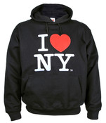 I Love NY Black Embroidered Sweatshirt