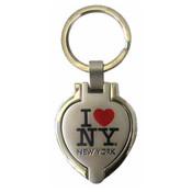 I Love NY Heart Shaped Keychain