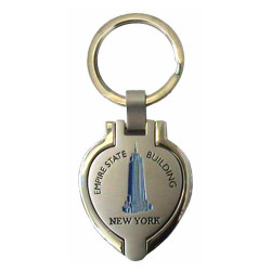 Empire State Building Heart Shaped Keychain