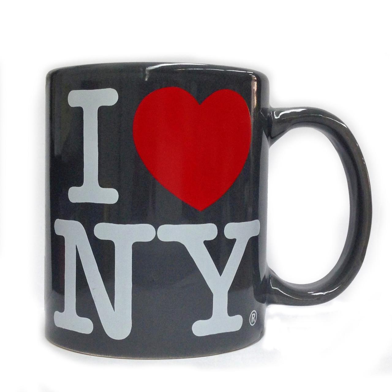 I Love NY Charcoal 11oz Mug photo