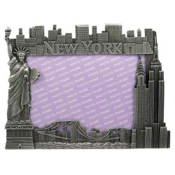 NYC Icons 5 x 7 Metal Picture Frame
