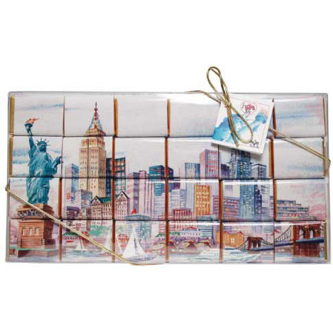 NY Skyline Mosaic 24 pc Chocolate Gift Set photo