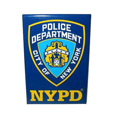 NYPD Navy Magnet photo