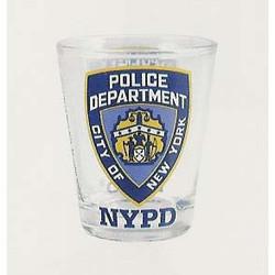 NYPD Clear Shotglass Photo