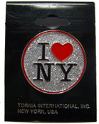 I Love NY Glitter Pin