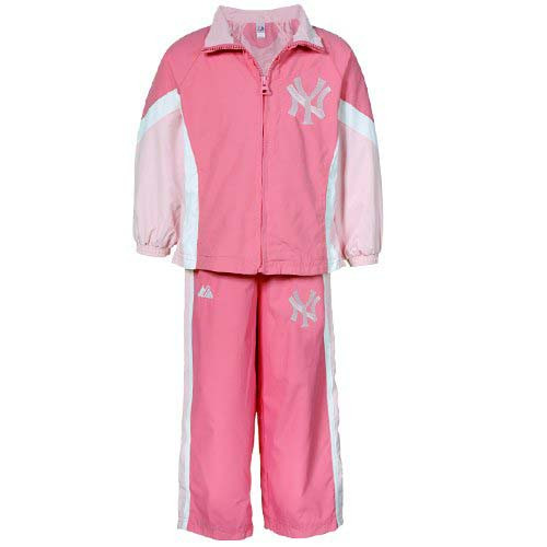 Yankees Girls Pink Nylon Windsuit photo
