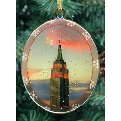 Empire State Building Double Sided Ornament Photo