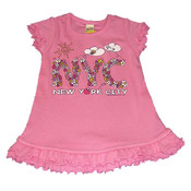 NYC Floral Pink Infant Mini Dress