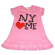 NY Loves Me Pink Infant Mini Dress