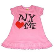 NY Loves Me Pink Infant Mini Dress