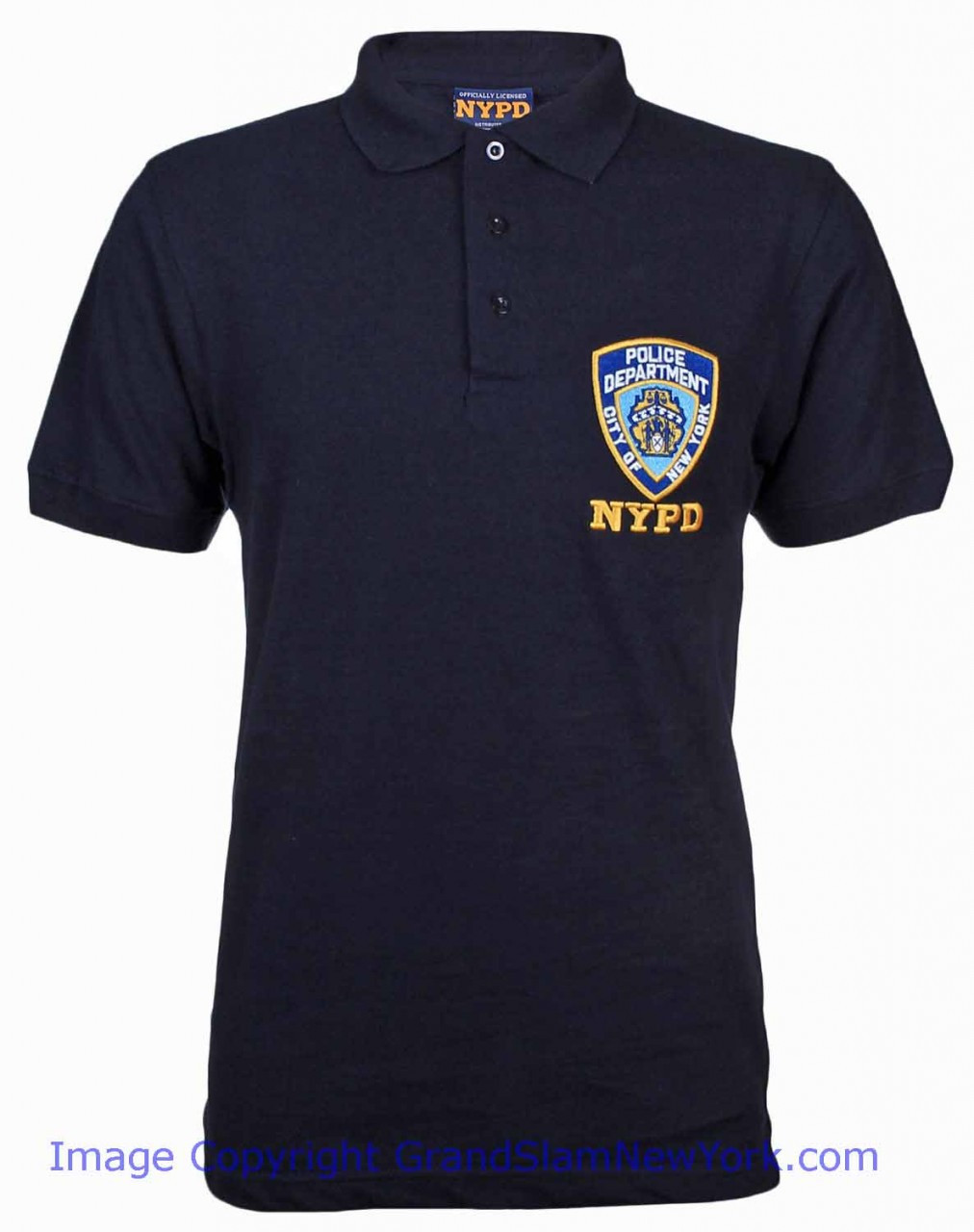 0095e3125 NYPD Polo Shirt - Navy with Official Badge