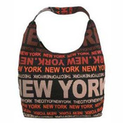 Robin-Ruth NY Charcoal/Red Luxury Bag