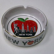 NYC Big Apple Icons Ceramic Ashtray