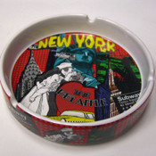 NYC Monuments Collage Ceramic Ashtray