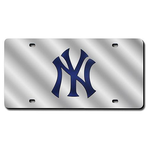 New York Yankees Silver Laser Tag photo