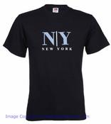 NY Armani Font Black Tee