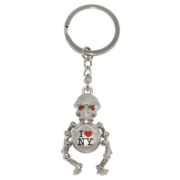 I Love NY Metal Skeleton Keyring photo