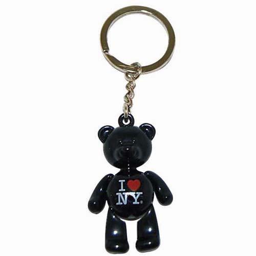 I Love NY Black Bear Keyring photo