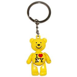 I Love NY Yellow Bear Keyring