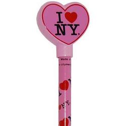 I Love NY Pink Heart Pencil Topper Photo