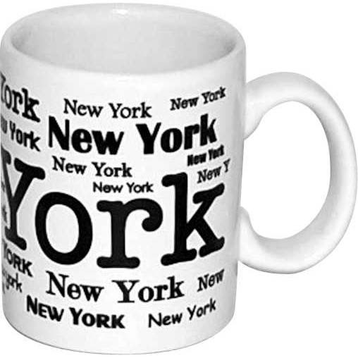 New York Allover White 4oz Mini Mug photo