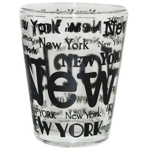 New York Allover Clear Shotglass photo