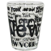 New York Allover Clear Shotglass