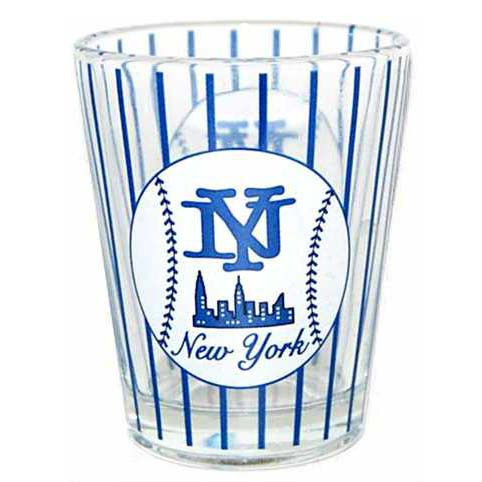 NY Baseball Pinstripe Clear Shotglass photo