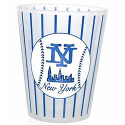 NY Baseball Pinstripe Frosted Shotglass Photo