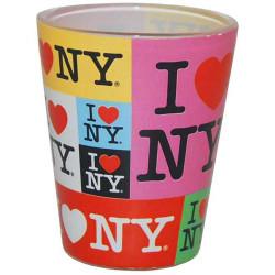 I Love NY Colors Collage Shotglass Photo