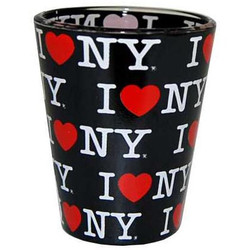 I Love NY Repeat Black Shotglass Photo