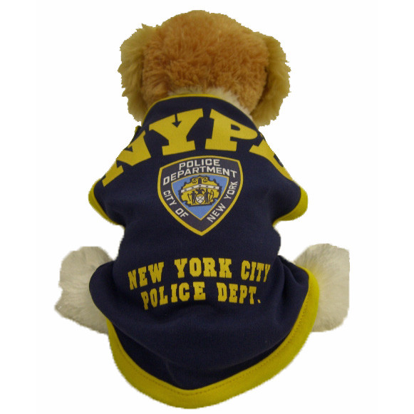 NYPD Navy/Yellow Dog T-Shirt photo