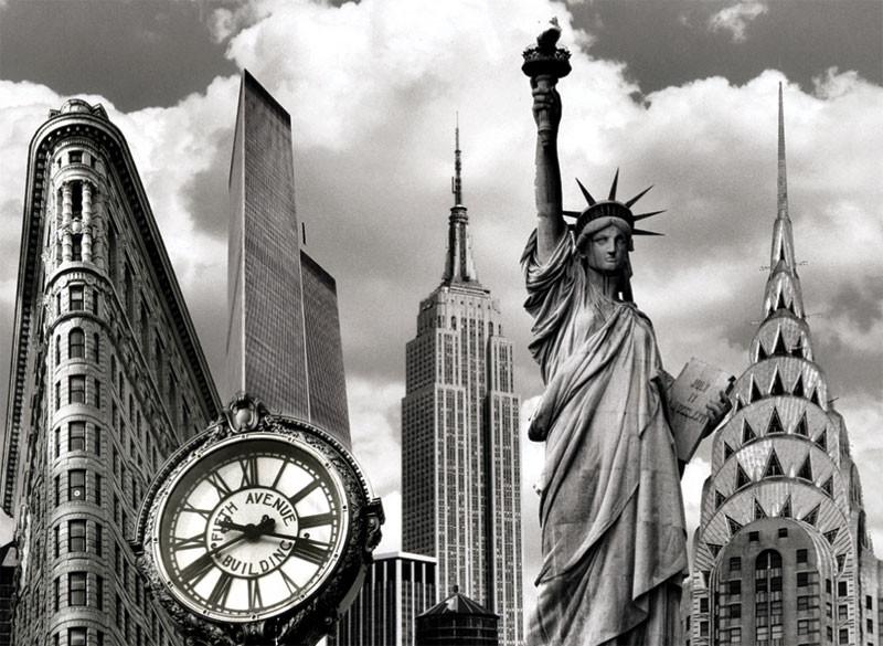 New York Landmarks Collage Photo Magnet photo
