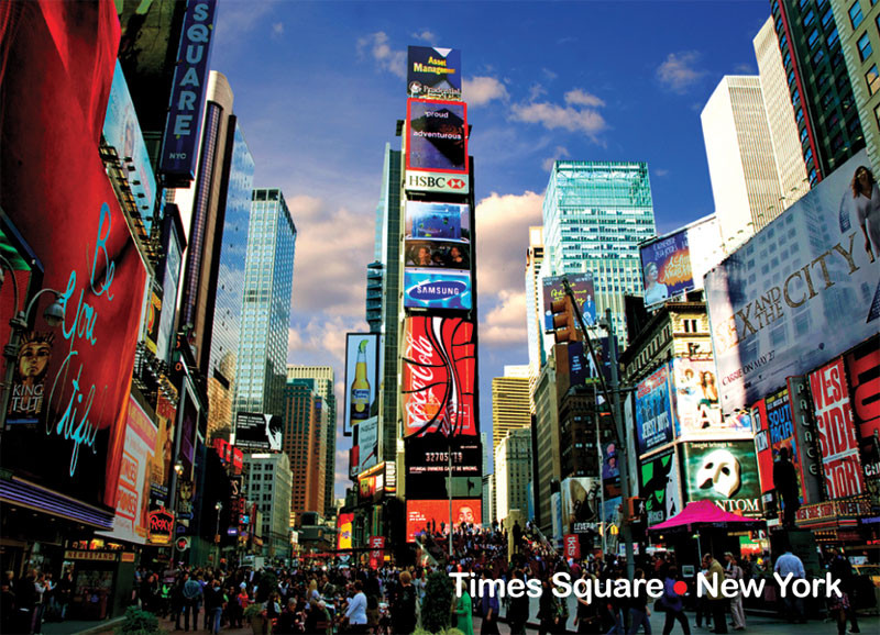 Times Square Photo Magnet photo