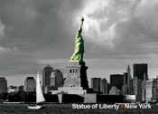 Statue of Liberty and New Downtown Photo Magnet