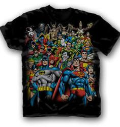Justice League Black Adult T-Shirt Photo