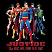 Justice League Black Adult T-Shirt