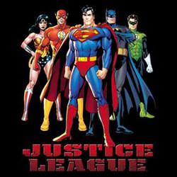 Justice League Black Adult T Shirt