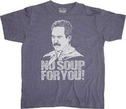 Soup Nazi Blue Adult T-Shirt Photo