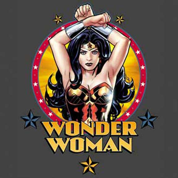 Wonder Woman Charcoal Ladies Fitted Tee photo