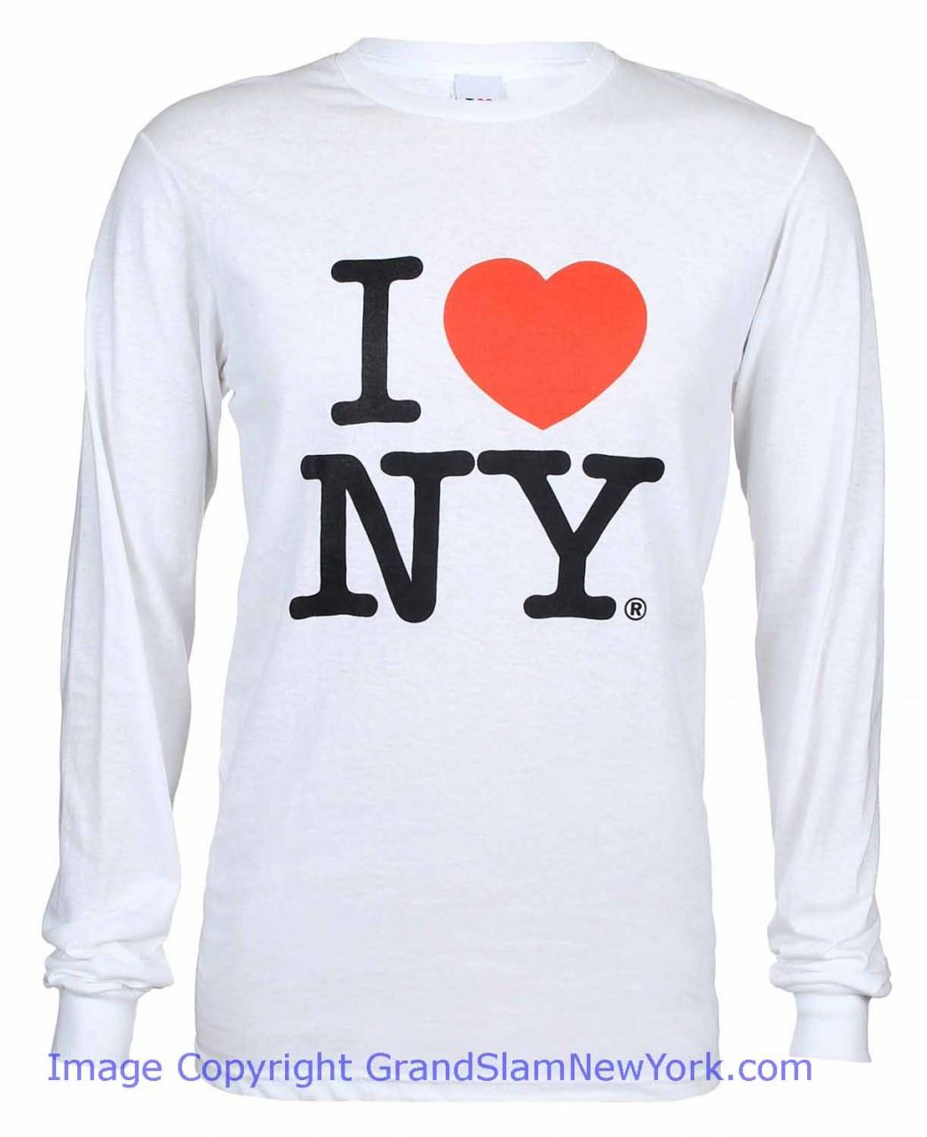 I love ny long sleeve t shirt in white altavistaventures Choice Image
