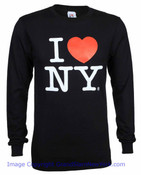 I Love NY Long Sleeve Shirt in Black