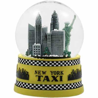NYC Taxi 45mm Snowglobe photo