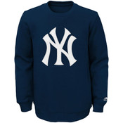 NY Yankees Logo Youth Crewneck Sweatshirt
