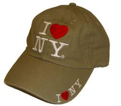 I Love NY Khaki Cap