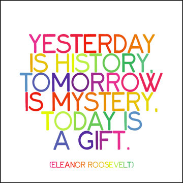 Yesterday Is History Quotable Card photo