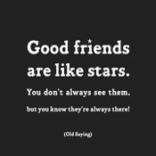Good Friends Are Like Stars Quotable Card
