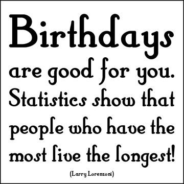 Birthdays are Good Quotable Card photo