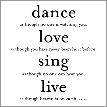 Dance, Love, Sing Quotable Card photo