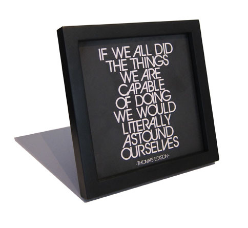Quotable Card Black 5 X 5 Frame photo